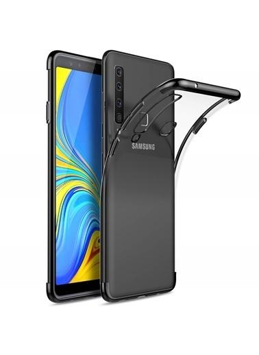 Microsonic Samsung Galaxy A9 2018 Kılıf Skyfall Transparent Clear  Siyah